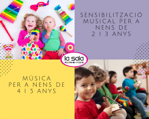 Curso de musica para niños de 2 a 5 años - Escuela de musica La Sala